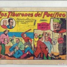 Tebeos: ROBERTO ALCAZAR Y PEDRIN EN LOS TIBURONES DEL PACIFICO N,4 EDITORIAL VALENCIANA 1981. Lote 185675312