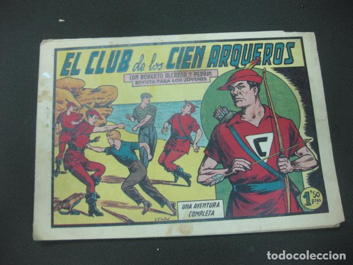 ROBERTO ALCAZAR Y PEDRIN, Nº 386. EL CLUB DE LOS ARQUEROS. EDITORIAL VALENCIANA (Tebeos y Comics - Valenciana - Roberto Alcázar y Pedrín)