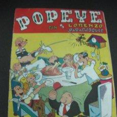 Tebeos: POPEYE CON LORENZO PARACHOQUES. EDITORIL VALENCIANA 1948. Lote 186055926