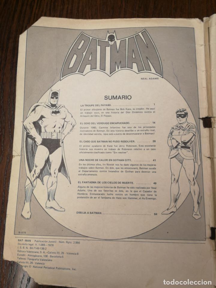 Tebeos: BATMAN (BAT MAN) EDITORIAL VALENCIANA - 1976 - FORMATO GIGANTE - Foto 4 - 186100833