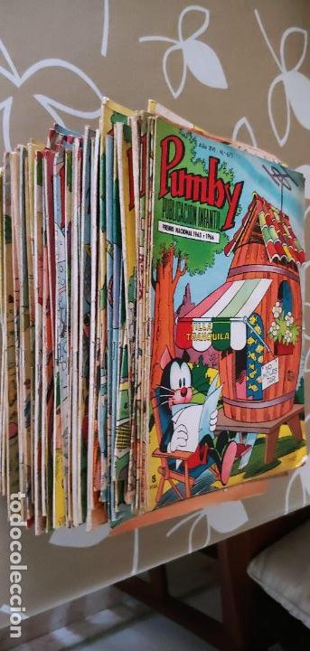 LOTE DE 83 NÚMEROS DE LA REVISTA PUMBY ENTRE 671 Y 974 EDITORIAL VALENCIANA CON EXTRAS Y ALMANAQUE (Tebeos y Comics - Valenciana - Pumby)