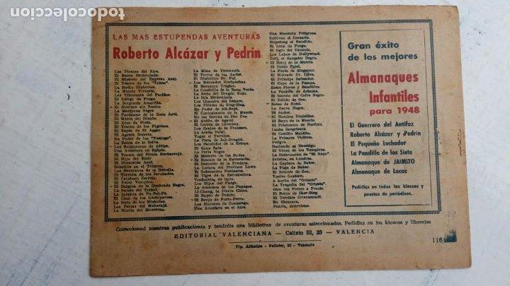 Tebeos: ROBERTO ALCAZAR Y PEDRIN ORIGINAL Nº 116 SERIE HOMBRE DIABÓLICO - Foto 2 - 186182405
