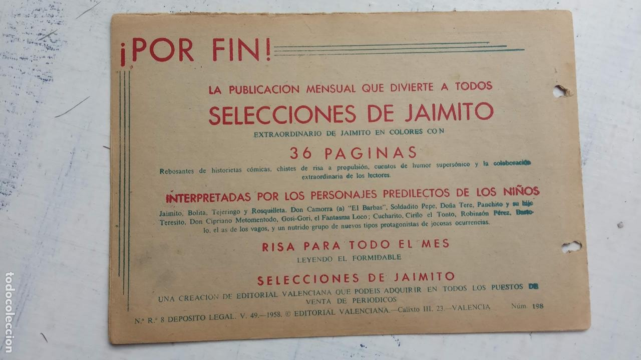 Tebeos: ROBERTO ALCAZAR Y PEDRIN ORIGINAL Nº 198 - DOS BUENOS AMIGOS - Foto 2 - 186185522
