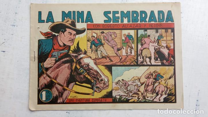 ROBERTO ALCAZAR Y PEDRIN ORIGINAL Nº 194 DE 1,25 PTS. - LA MINA SEMBRADA - DIFICIL (Tebeos y Comics - Valenciana - Roberto Alcázar y Pedrín)