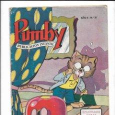 Tebeos: PUMBY, AÑO 1956 Nº 21. ES ORIGINAL Y DIFICIL DE VER DIBUJANTES, J. LICERAS, J. SANCHIS, PALOP. KARPA. Lote 186244532