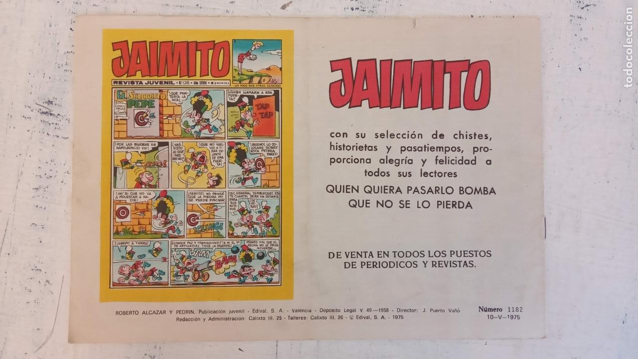 Tebeos: ROBERTO ALCAZAR Y PEDRIN ORIGINAL Nº 1182 - UNA SOMBRA EN LA OSCURIDAD - MUY NUEVO - Foto 2 - 186361861