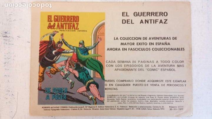Tebeos: ROBERTO ALCAZAR Y PEDRIN ORIGINAL Nº 1059 - LA MANADA SALVAJE - Foto 2 - 186362560