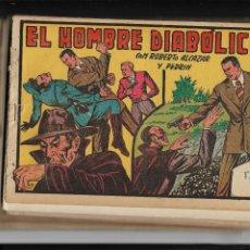 Tebeos: ROBERTO ALCAZAR Y PEDRIN AÑO 1940 LOTE DE 28 TEBEOS ORIGINALES EL HOMBRE DIABOLICO COLECCIÓN COMPLET. Lote 186463440