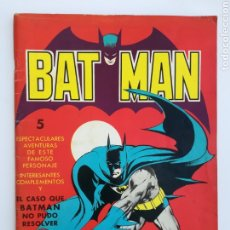 Tebeos: BAT-MAN EL CASO QUE NO PUDO RESOLVER - AÑO 1976 - BATMAN ROBIN JOKER - EDITORA VALENCIANA. Lote 189160506