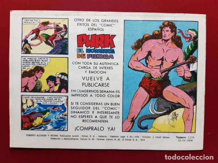 Tebeos: ROBERTO ALCAZAR Y PEDRIN Nº 1129 EXCELENTE ESTADO ORIGINAL VER FOTOS - Foto 2 - 190238518