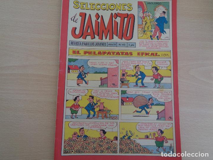 SELECCIONES DE JAIMITO Nº 43 AÑO IV. 33 PÁGINAS. CON GUILLERMO TELL. EDITA VALENCIANA. BUEN ESTADO (Tebeos y Comics - Valenciana - Jaimito)