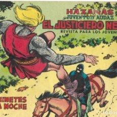 Tebeos: EL JUSTICIERO NEGRO Nº 12 - HAZAÑAS DE LA JUVENTUD AUDAZ - BUEN ESTADO. Lote 190739792
