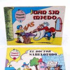 Tebeos: CUENTOS CLÁSICOS 1 2. JUAN SIN MIEDO /DOCTOR SABELOTODO. COMPLETA (LICERAS) VALENCIANA, 1983. OFRT. Lote 190843198