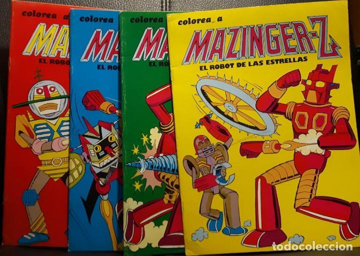 MAZINGER Z EL ROBOT DE LAS ESTRELLAS - COLOREA A MAZINGER - LOTE DE 4 - COMPLETA - MAZINGUER (Tebeos y Comics - Valenciana - Otros)