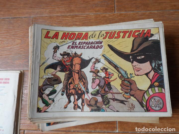 Tebeos: EL ESPADACHIN ENMASCARADO COLECCION COMPLETA VALENCIANA 1952 ORIGINAL 252 NUMEROS - Foto 2 - 191628047