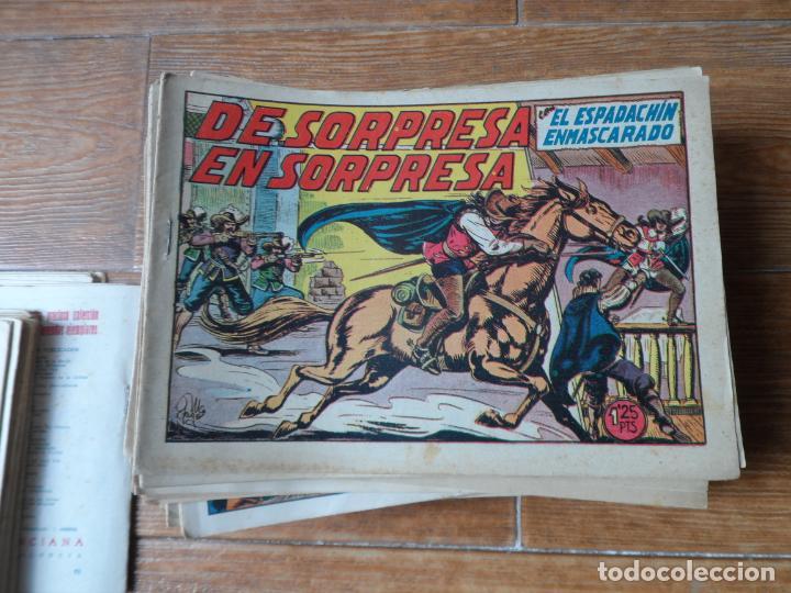 Tebeos: EL ESPADACHIN ENMASCARADO COLECCION COMPLETA VALENCIANA 1952 ORIGINAL 252 NUMEROS - Foto 3 - 191628047