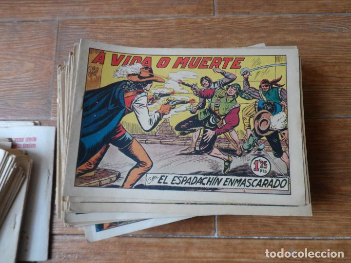Tebeos: EL ESPADACHIN ENMASCARADO COLECCION COMPLETA VALENCIANA 1952 ORIGINAL 252 NUMEROS A FALTA DE 12 - Foto 4 - 191628047