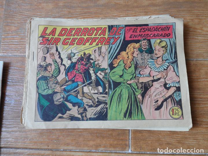 Tebeos: EL ESPADACHIN ENMASCARADO COLECCION COMPLETA VALENCIANA 1952 ORIGINAL 252 NUMEROS - Foto 8 - 191628047