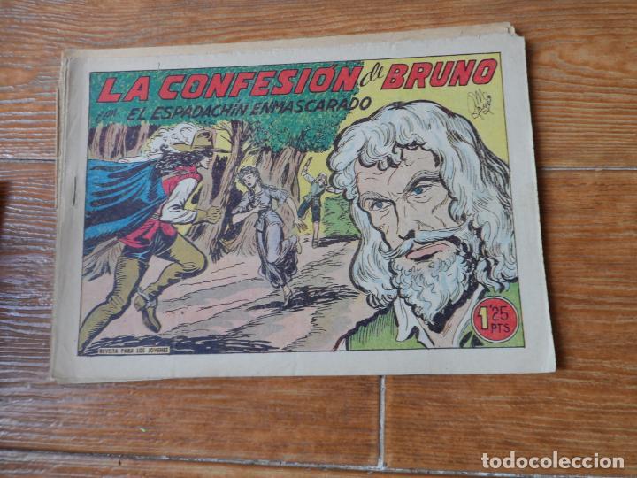 Tebeos: EL ESPADACHIN ENMASCARADO COLECCION COMPLETA VALENCIANA 1952 ORIGINAL 252 NUMEROS A FALTA DE 12 - Foto 10 - 191628047