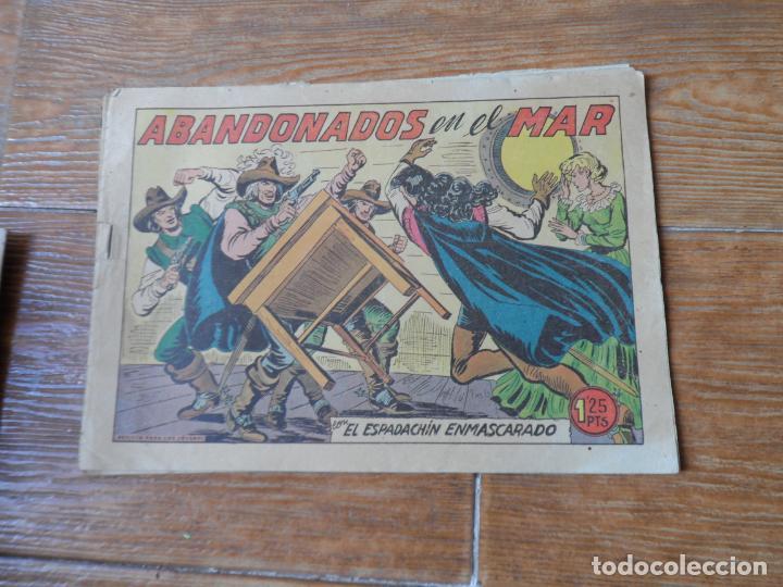 Tebeos: EL ESPADACHIN ENMASCARADO COLECCION COMPLETA VALENCIANA 1952 ORIGINAL 252 NUMEROS - Foto 11 - 191628047