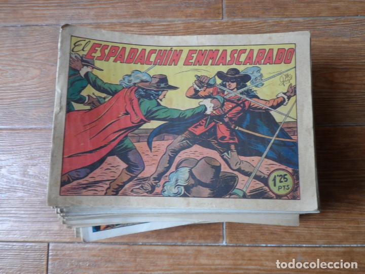 EL ESPADACHIN ENMASCARADO COLECCION COMPLETA VALENCIANA 1952 ORIGINAL 252 NUMEROS A FALTA DE 12 (Tebeos y Comics - Valenciana - Espadachín Enmascarado)