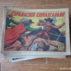Tebeos: EL ESPADACHIN ENMASCARADO COLECCION COMPLETA VALENCIANA 1952 ORIGINAL 252 NUMEROS A FALTA DE 12. Lote 191628047