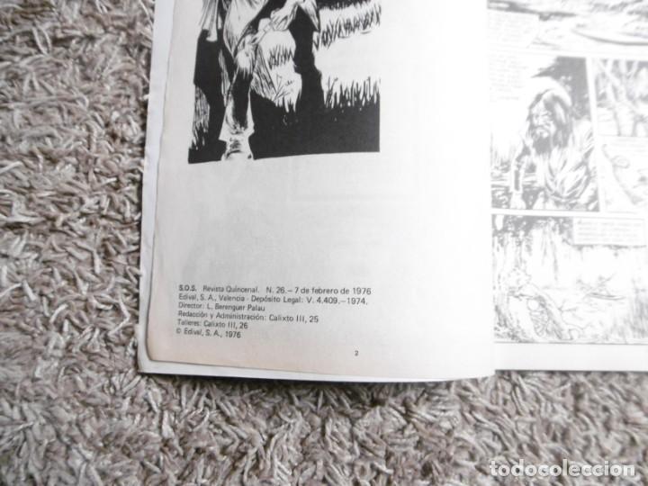 Tebeos: Comic SOS Nº26 febrero 1976 EDIVAL Valenciana - Foto 3 - 191634420