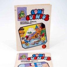 Livros de Banda Desenhada: COMI CUENTOS 1 2. COMPLETA. HISTORIAS JUEGOS PASATIEMPOS (ROJAS DE LA CÁMARA) VALENCIANA, 1984. OFRT. Lote 192281747