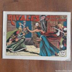 Tebeos: RIVALES CON EL REY DEL MAR / BERMEJO / VALENCIANA NUM. 37 AÑO 1948. Lote 192491052