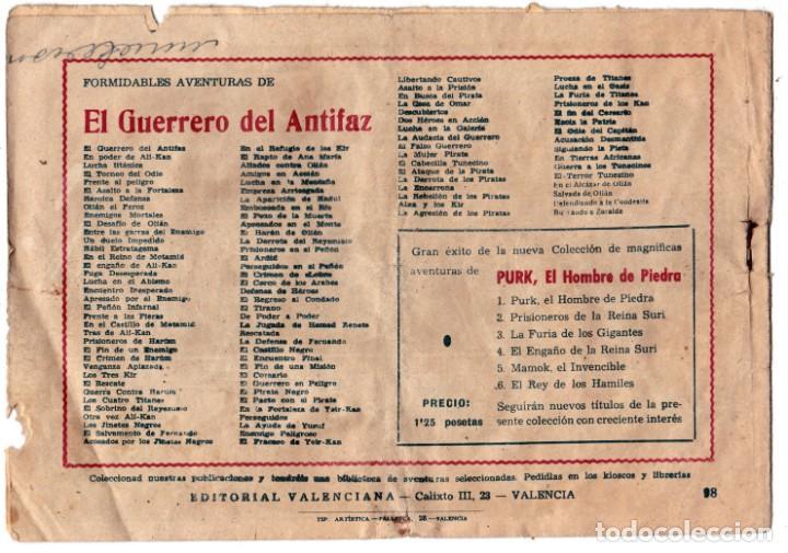 Tebeos: EL GUERRERO DEL ANTIFAZ ORIGINAL nº 98 SIGUIENDO LA PISTA - Foto 2 - 193667567