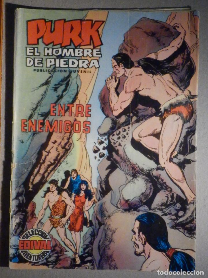 TEBEO - COMIC - PURK EL HOMBRE DE PIEDRA - ENTRE ENEMIGOS - Nº 86 - EDICIÓN EDIVAL (Tebeos y Comics - Valenciana - Purk, el Hombre de Piedra)