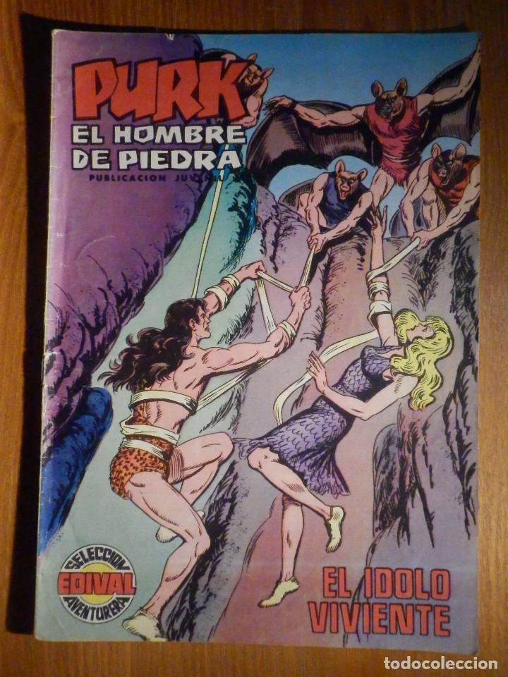 TEBEO - COMIC - PURK EL HOMBRE DE PIEDRA - EL IDOLO VIVIENTE - Nº 54 - EDICIÓN EDIVAL (Tebeos y Comics - Valenciana - Purk, el Hombre de Piedra)