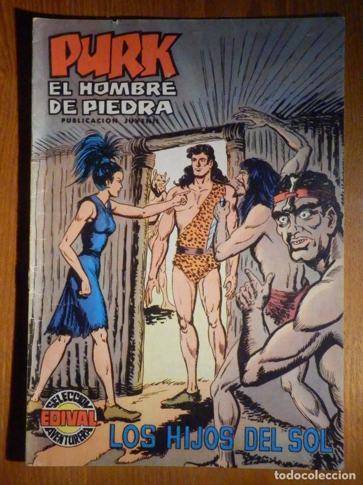 TEBEO - COMIC - PURK EL HOMBRE DE PIEDRA - LOS HIJOS DEL SOL - Nº 46 - EDICIÓN EDIVAL (Tebeos y Comics - Valenciana - Purk, el Hombre de Piedra)