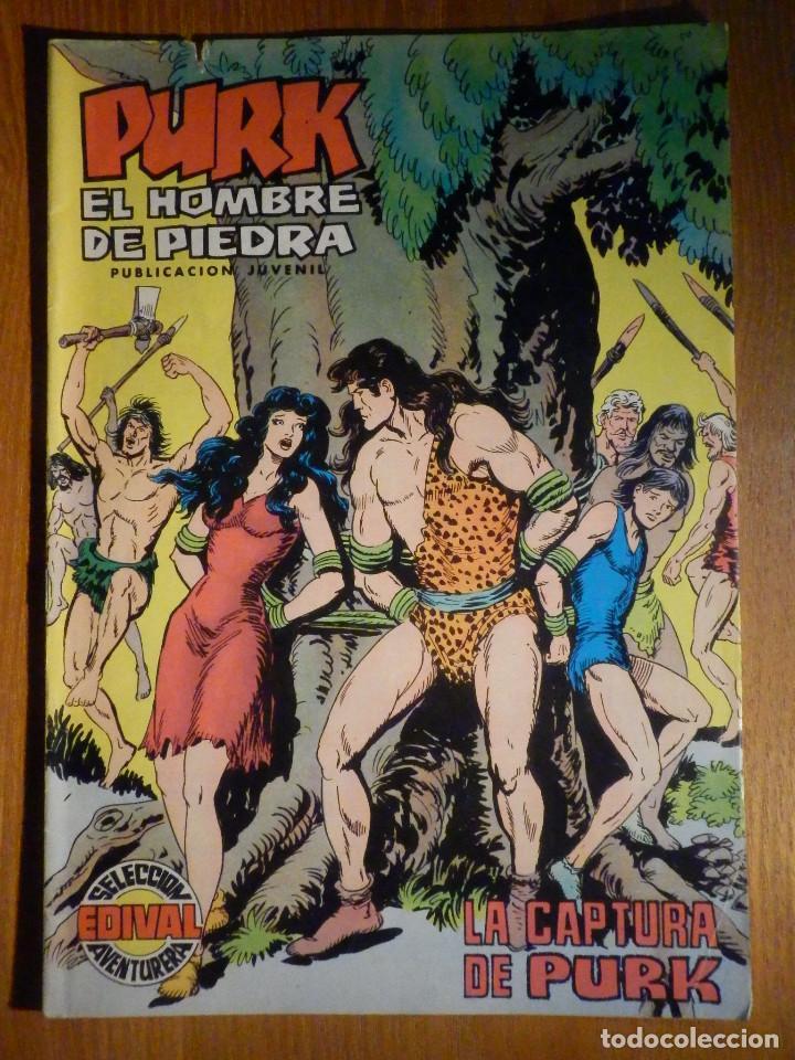 TEBEO - COMIC - PURK EL HOMBRE DE PIEDRA - LA CAPTURA DE PURK - Nº 81 - EDICIÓN EDIVAL (Tebeos y Comics - Valenciana - Purk, el Hombre de Piedra)
