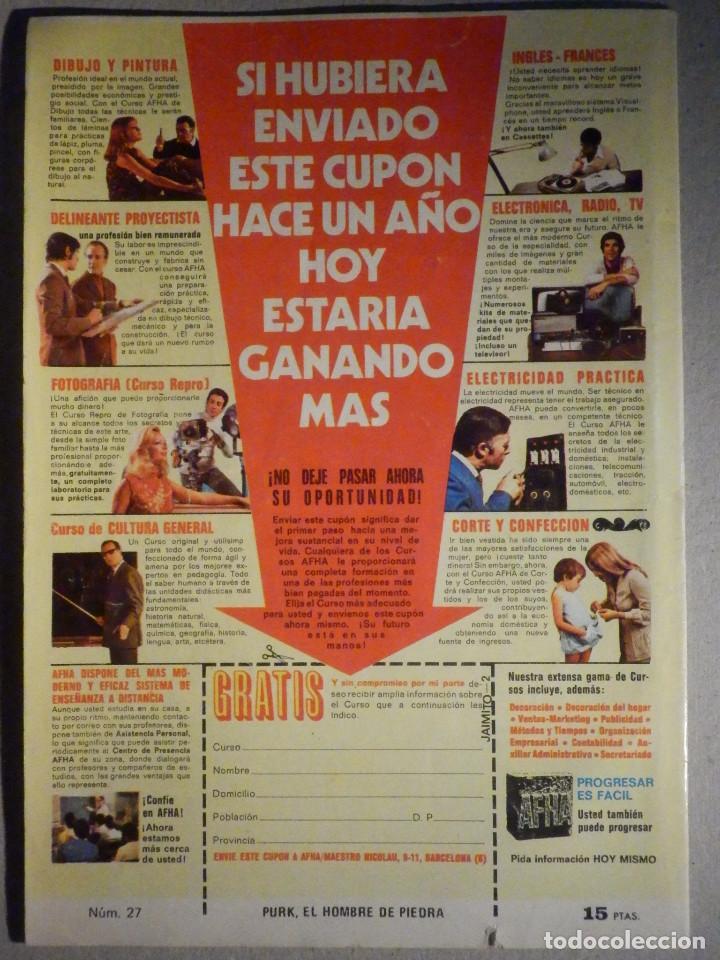 Tebeos: Tebeo - Comic - Purk El hombre de Piedra - La victoriosa de pensior - Nº 27 - Edición Edival - Foto 2 - 193976902