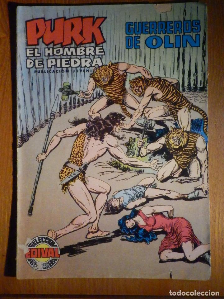 TEBEO - COMIC - PURK EL HOMBRE DE PIEDRA - GUERREROS DE OLIN - Nº 88 - EDICIÓN EDIVAL (Tebeos y Comics - Valenciana - Purk, el Hombre de Piedra)