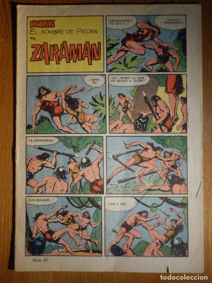 TEBEO - COMIC - PURK EL HOMBRE DE PIEDRA - ZARAMAN - Nº 67 - EDICIÓN EDIVAL (Tebeos y Comics - Valenciana - Purk, el Hombre de Piedra)