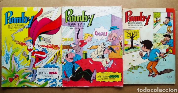 LOTE REVISTA PUMBY: NÚMEROS 1178-1181-1203 (VALENCIANA, 1983-1984). 36 PÁGINAS A COLOR CADA EJEMPLAR (Tebeos y Comics - Valenciana - Pumby)