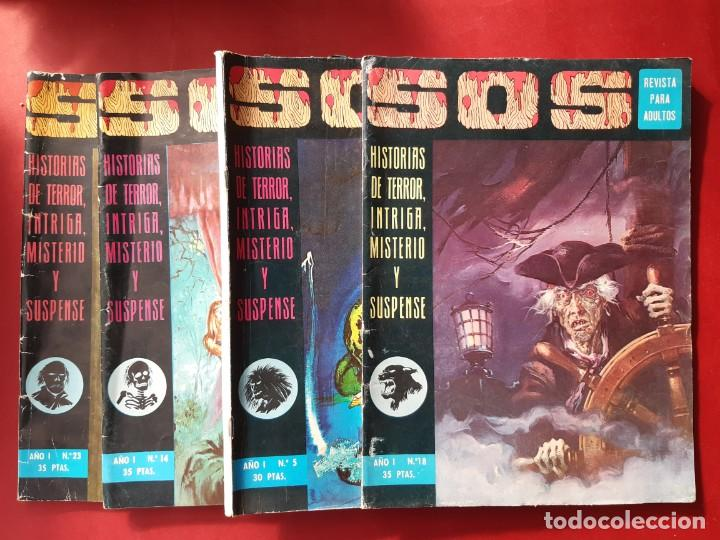 LOTE DE 4 SOS VALENCIANA (Tebeos y Comics - Valenciana - S.O.S)