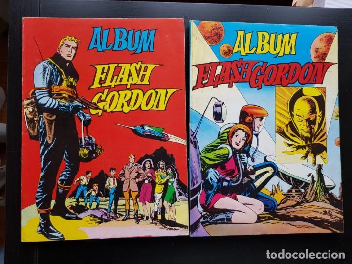 LOTE 2 TEBEOS / CÓMIC ÁLBUM FLASH GORDON 1-4 1980 ORIGINAL VALENCIANA (Tebeos y Comics - Valenciana - Otros)