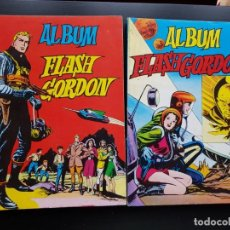 Tebeos: LOTE 2 TEBEOS / CÓMIC ÁLBUM FLASH GORDON 1-4 1980 ORIGINAL VALENCIANA . Lote 194225985
