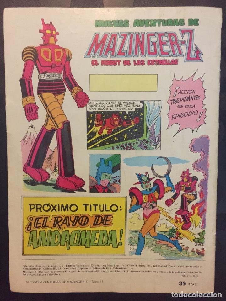 Tebeos: NUEVAS AVENTURAS DE MAZINGER Z EL ROBOT DE LAS ESTRELLAS N.11 . BETA 68 DARDO MORTAL . 136 . 1978 . - Foto 2 - 194230190