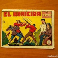 Tebeos: DAVID DE LA POLICIA MONTADA, Nº 6, EL HOMICIDA - EDITORIAL VALENCIANA 1951. Lote 194285271