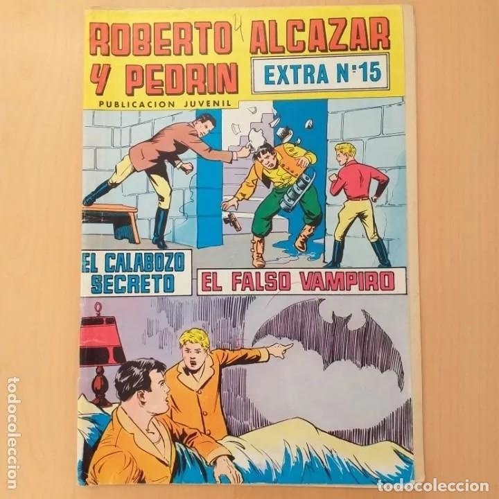 ROBERTO ALCAZAR Y PEDRIN. EL CALABOZO SECRETO + EL FALSO VAMPIRO. VALENCIANA EXTRA NUM 15 (Tebeos y Comics - Valenciana - Roberto Alcázar y Pedrín)