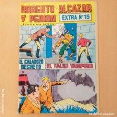 Tebeos: ROBERTO ALCAZAR Y PEDRIN. EL CALABOZO SECRETO + EL FALSO VAMPIRO. VALENCIANA EXTRA NUM 15. Lote 194302448