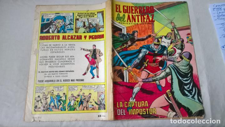 COMIC: EL GUERRERO DEL ANTIFAZ Nº 213 (Tebeos y Comics - Valenciana - Guerrero del Antifaz)