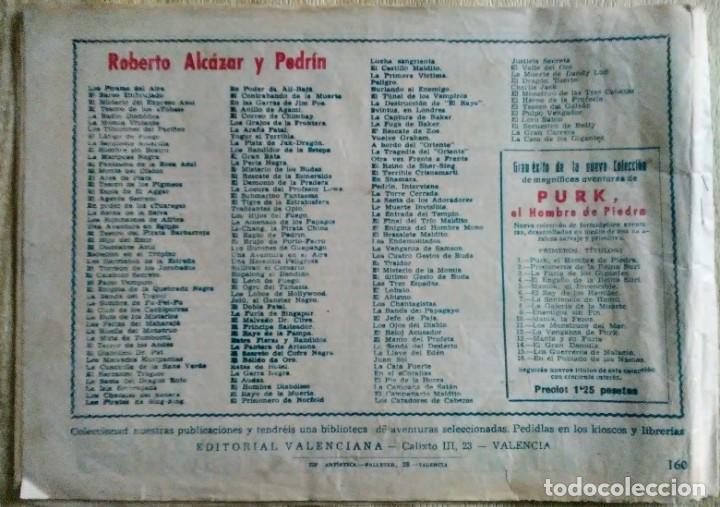 Tebeos: EL MISTERIO DE ALCIONE 160 ROBERTO ALCAZAR Y PEDRIN ORIGINAL PRIMERA EDICION ed.valenciana - Foto 2 - 194516692