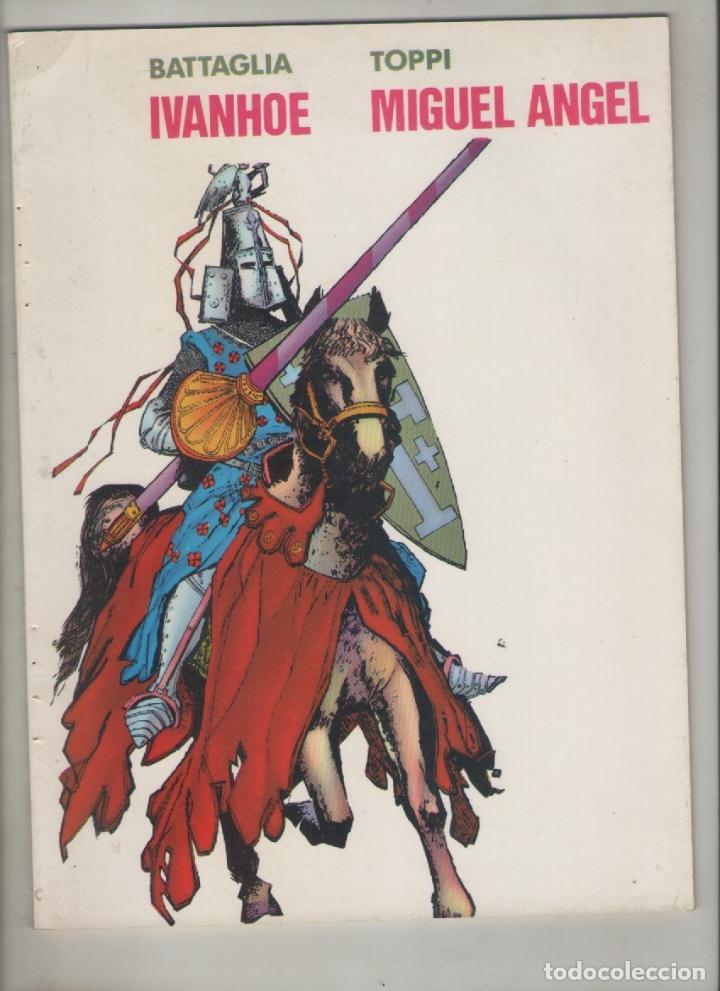 MIGUEL ANGEL-IVANHOE-E.D. VALENCIANA-AÑO 1983-B Y N-CARTON-Nº 5-AUTOR: TOPPI-BATTAGLIA- (Tebeos y Comics - Valenciana - Otros)