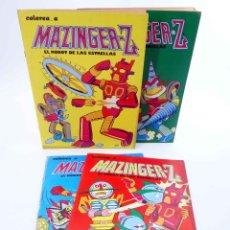 Tebeos: COLOREA A MAZINGER Z, EL ROBOT DE LAS ESTRELLAS 1 2 3 4. COMPLETA (J. SANCHÍS) EDIPRINT, 1978. OFRT. Lote 194983418