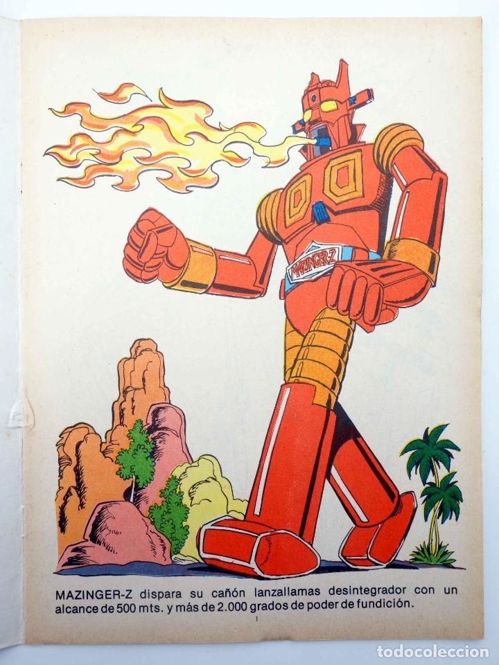 Tebeos: COLOREA A MAZINGER Z, EL ROBOT DE LAS ESTRELLAS 1 2 3 4. COMPLETA (J. Sanchís) Ediprint, 1978. OFRT - Foto 3 - 195216085
